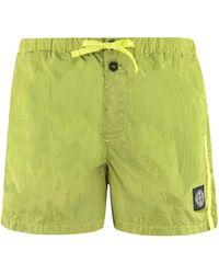 Stone Island Metal Nylon Swim Shorts - Green
