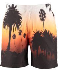 Orlebar Brown Shorts da mare Bulldog - Arancione