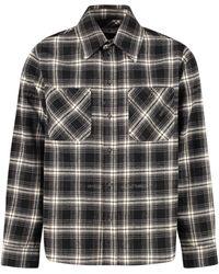 Off-White c/o Virgil Abloh Flannel Check Shirt - Black