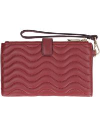 MICHAEL Michael Kors Adele Quilted Leather Wallet - Red