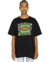 Gucci Logo Print T-shirt - Black