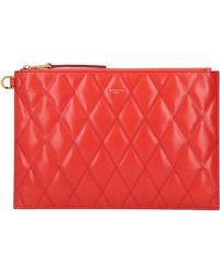 Givenchy Busta piatta in pelle con logo - Rosso