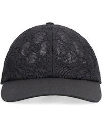 Gucci GG Embroidered Cotton Lace Baseball Cap - Black
