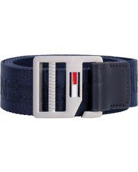 Tommy Hilfiger - Cintura in tela con logo - Lyst