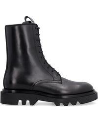 Givenchy Cruz Trek Leather Boots - Black