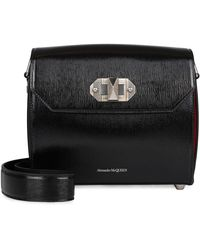 Alexander McQueen Box 21 Leather Bag - Black