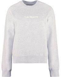 Maison Labiche Embroidered Cotton Sweatshirt - Gray