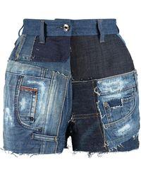 Dolce & Gabbana High-rise Cut-off Denim Shorts - Blue