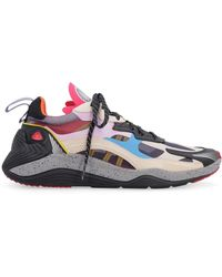 McQ Daku Leather And Fabric Low-top Trainers - Multicolour