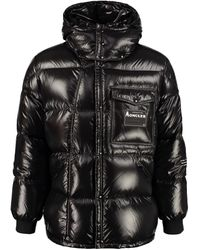7 MONCLER FRAGMENT Anthemy Hooded Down Jacket - Black