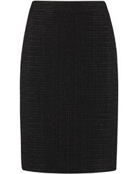 Boutique Moschino Tweed Skirt - Black