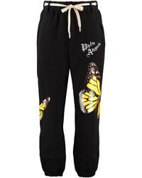 Palm Angels Track-pants in cotone stretch - Nero