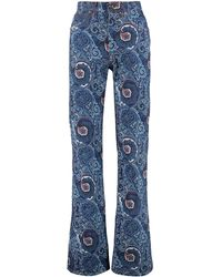 Etro Jeans svasati con stampa paisley - Blu