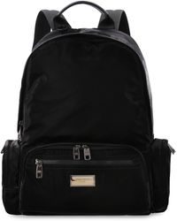 Dolce & Gabbana - Nero Sicilia Dna Logo Detail Nylon Backpack - Lyst