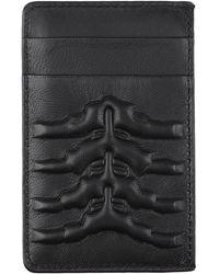 Alexander McQueen Ribcage Card Holder - Black