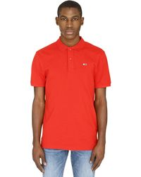 Tommy Hilfiger Stretch Cotton Piqué Polo Shirt - Red