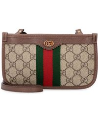Gucci Ophidia GG Supreme Fabric Pouch - Natural