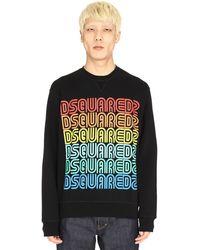DSquared² Logo Detail Cotton Sweatshirt - Black