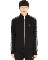 Philipp Plein Hexagon Side Logo Bands Sweatshirt - Black