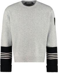 Neil Barrett Maglione in lana e cachemire - Grigio