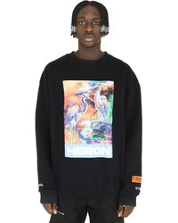Heron Preston Cotton Crew-neck Sweatshirt - Black