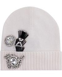 Pinko Secco Knitted Beanie - White