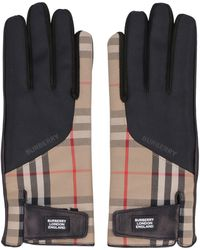 Burberry Leather Gloves - Natural