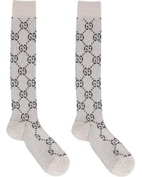 Gucci Calze in misto cotone con motivo GG - Bianco
