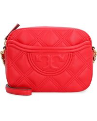 Tory Burch Fleming Leather Camera Bag - Red