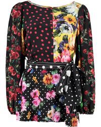 Dolce & Gabbana Blusa in seta stampata - Multicolore