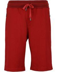 Dolce & Gabbana Cotton Sweatshorts - Red