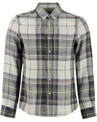 Brunello Cucinelli Checked Linen Shirt - Green