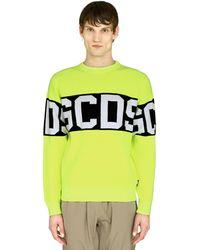 Gcds Intarsia Crew-neck Jumper - Yellow