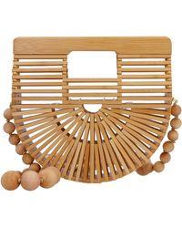 Cult Gaia Gaia's Ark Bamboo Crossbody Bag - Brown
