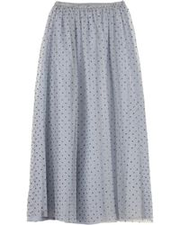 RED Valentino - Gonna in tulle a pois glitter - Lyst