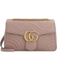 Gucci - Borsa a spalla GG Marmont in pelle matelassé - Lyst