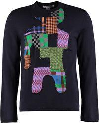 Comme des Garçons Crew-neck Wool Sweater - Blue