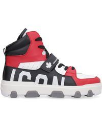 DSquared² Sneakers high-top Icon Basket in pelle - Rosso