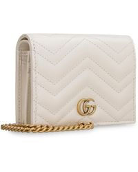 Gucci - GG Marmont Leather Wallet On Chain - Lyst