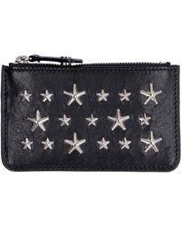 Jimmy Choo Nancy Leather Card Holder - Black