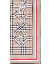 Burberry Foulard in seta - Neutro