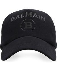 Balmain Cappello da baseball con logo - Nero