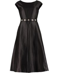 Max Mara Studio Oggeri Flared Dress - Black