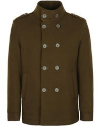 Herno Wool Blend Double-breasted Coat - Green
