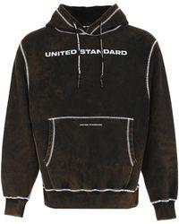 United Standard Logo Print Hoodie - Black