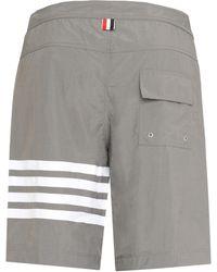 Thom Browne Nylon Swim Shorts - Gray