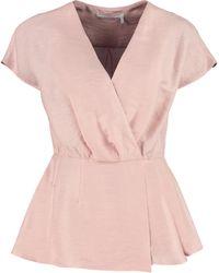 Agnona Asymmetric Draped Top - Pink