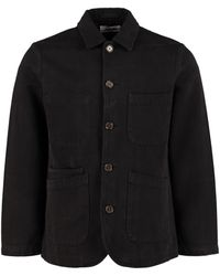 Universal Works - Overshirt Bakers in twill di cotone - Lyst