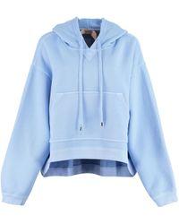 N°21 Felpa in cotone con cappuccio - Blu