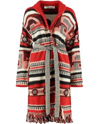 Golden Goose Deluxe Brand Azul Jacquard Knit Cardigan - Red